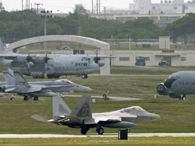 The Kadena Air Base on the southern island of Okinawa, Japan could be targeted before Australia, experts say.