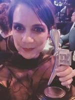 """Michala Banas ... """"STOLEN (Congrats @robynbutlernotes and @wayne_hope on your win for Little Lunch.) #Logies"""" Picture: Instagram"""