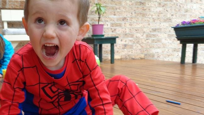 William Tyrrell in his Spider Man suit.