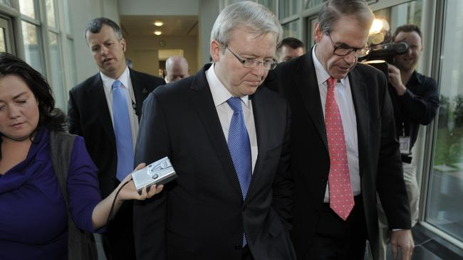 After Kevin Rudd lost the support of the Caucus Room, the Labor leadership fell to Gillard.