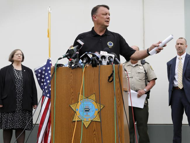 Special Agent Rick Rahn, of the Iowa Department of Criminal Investigation, speaks during a news conference about the investigation. Picture: AP