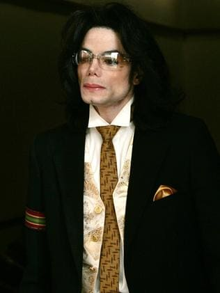 Michael Jackson leaves court in 2005.