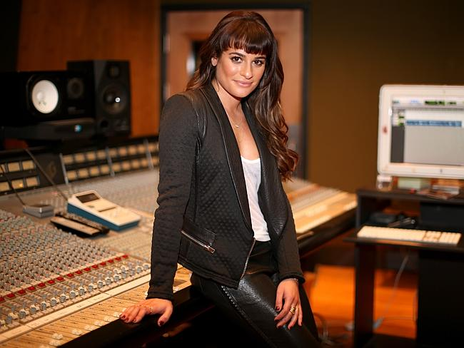 Tears ... over a two-hour conversation at a Los Angeles studio, Lea Michele revealed her experiences to Sia Furler. Picture: Christopher Polk