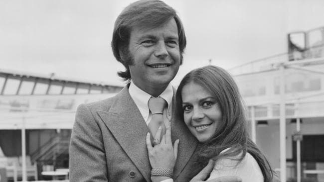The glamorous couple in 1972. Picture: Chris Wood/Daily Express/Hulton Archive/Getty Images