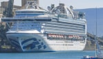 Ruby Princess passengers habe been dealt a new blow after health authorities said a staff member had been diagnosed with tuberculosis. Picture: Simon Bullard