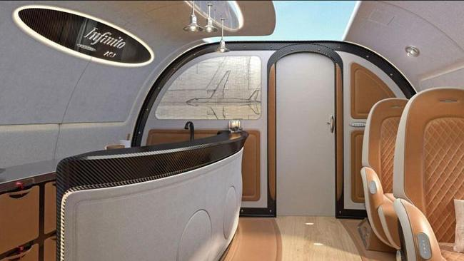 Passenger's can enjoy the gorgeous view or kick back in the double bed in the cabin