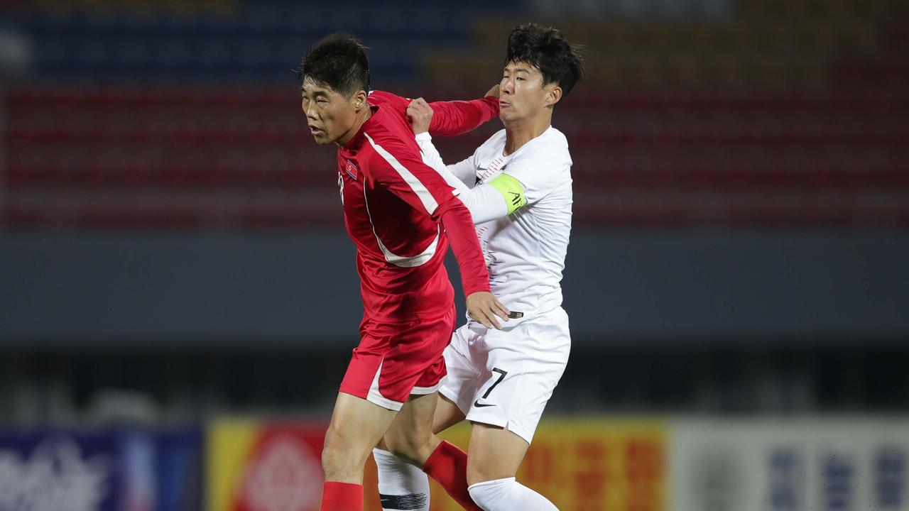 The match was reportedly very physical. (Photo by Korea Football Association via Getty Images)