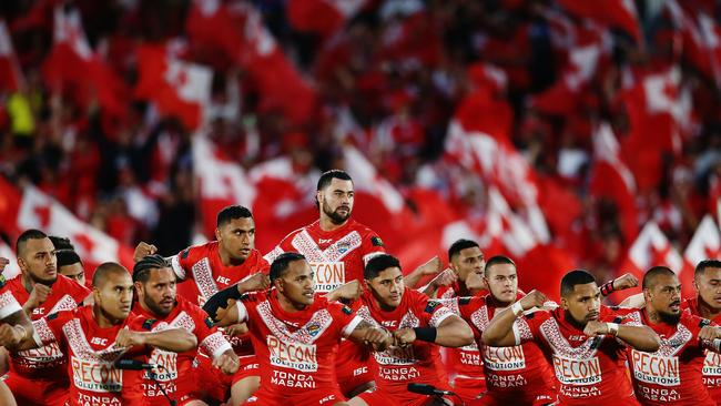 Fifita has previously led the Tongan Sipi Tau. Photo by Anthony Au-Yeung/Getty Images.