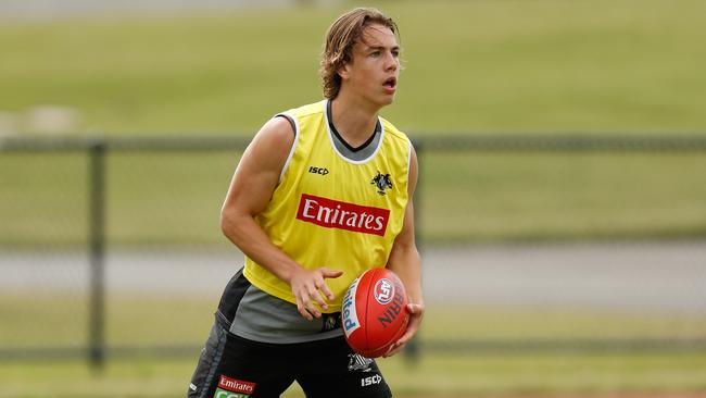 Collingwood father-son pick Callum Brown is likely to play early.