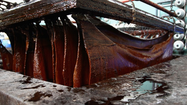 Leather tanning is a chemical-heavy process. Image: Getty