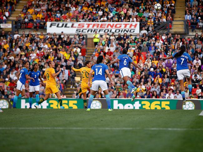 Samantha Kerr's goal in front of a sold out crowd.