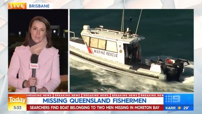 Boat found as police search for missing men (9 News)