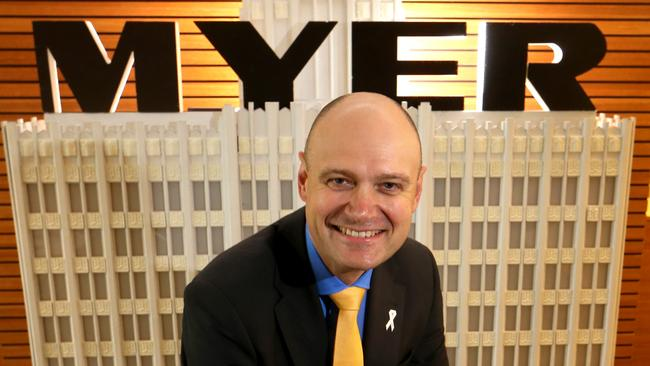 Richard Umbers took over at Myer HQ in 2015. Picture: David Geraghty