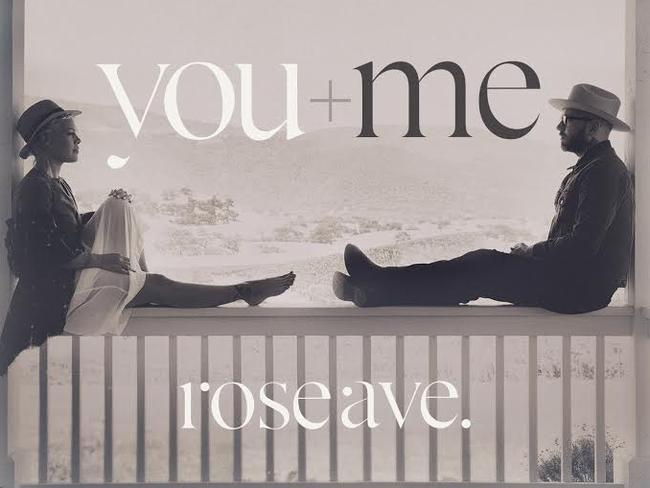 Surprising musical coupling ... You + Me's album cover for Rose Ave.