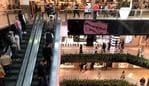 Westfield Parramatta coming back to life as people spend their Sunday at the shops. Picture: Jonathan Ng