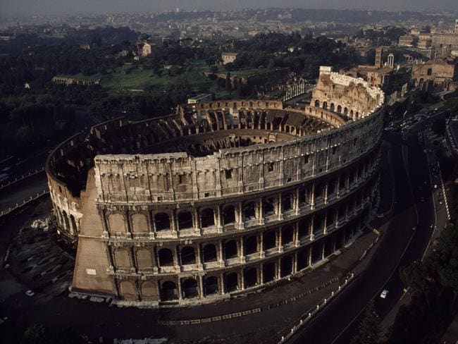 Flights into Rome are falling with the average return flight from Australia costing $1300.