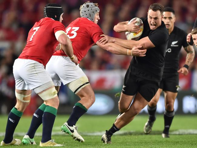 The Lions's rush defence denied the All Blacks key men chance to dominate.