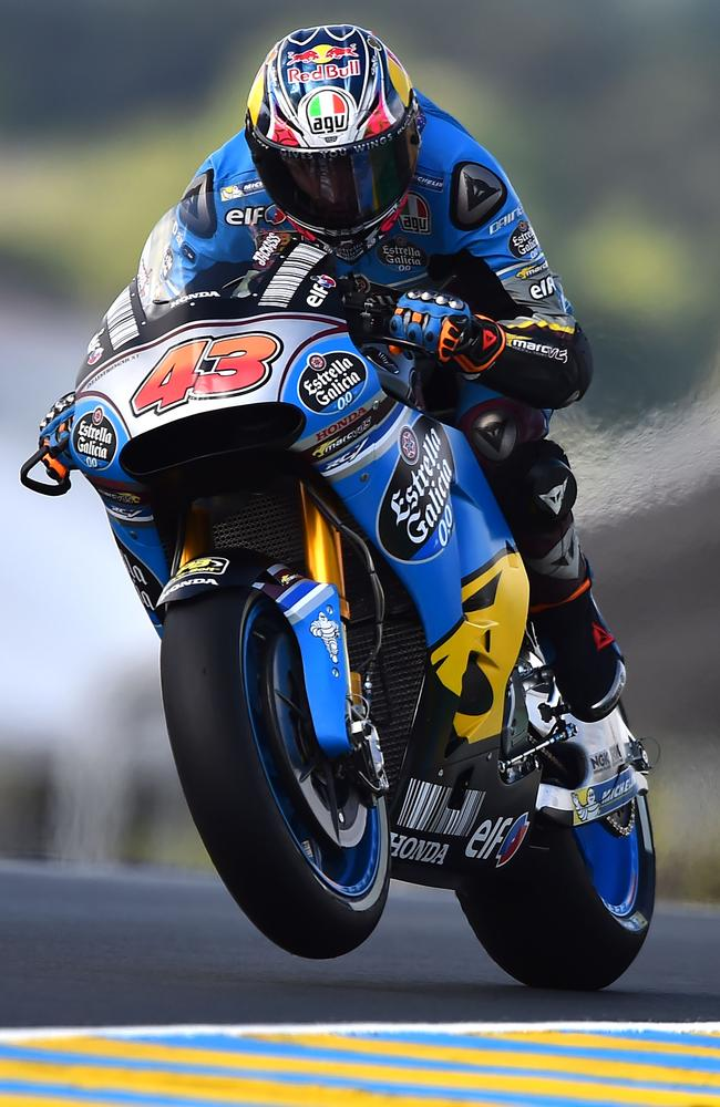 Australia's Jack Miller competes during free practice at Le Mans.