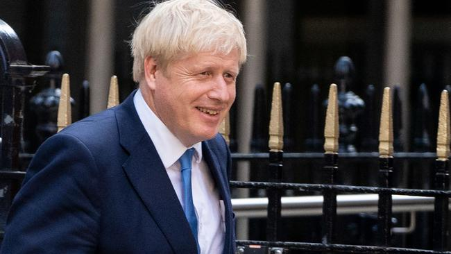 New Conservative Party leader and incoming prime minister Boris Johnson leaves the Conservative party headquarters in central London. Picture: AFP