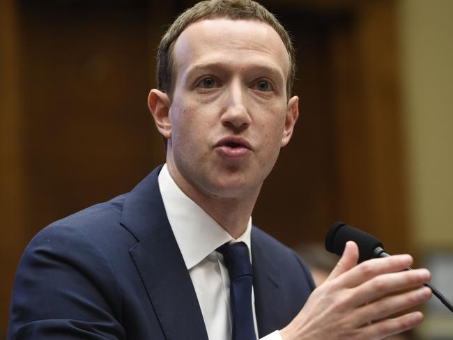 Facebook founder Mark Zuckerberg. Picture: AFP