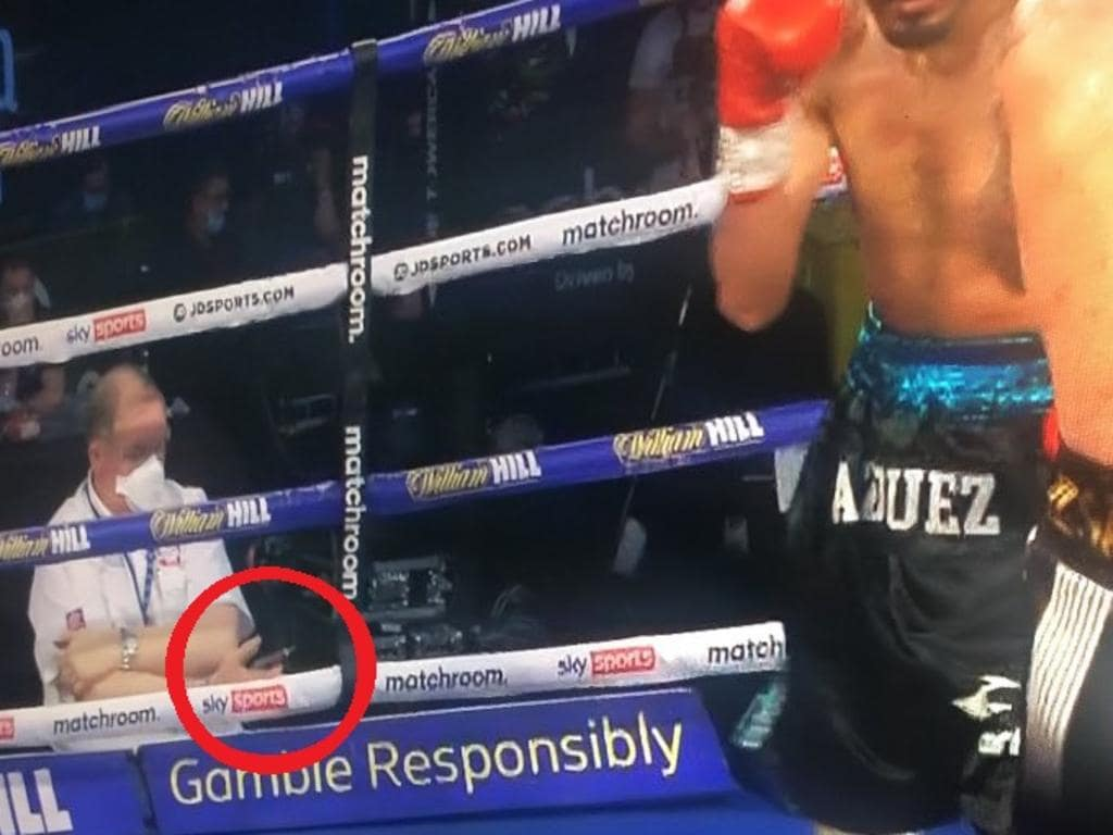 Boxing authorities are investigating after this image was shared online.