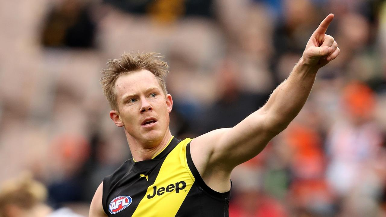 Jack Riewoldt is back. Photo: AAP Image/Mark Dadswell