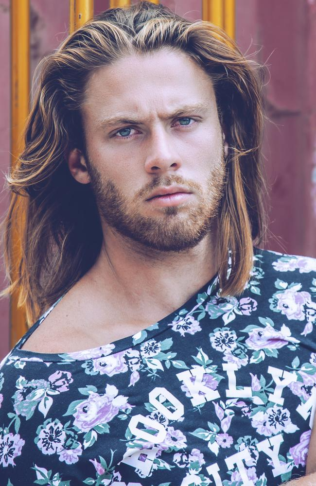 One of Tom Nunn's modelling shots, which shows off his long and trendy hair. Picture: Bella Managememt.