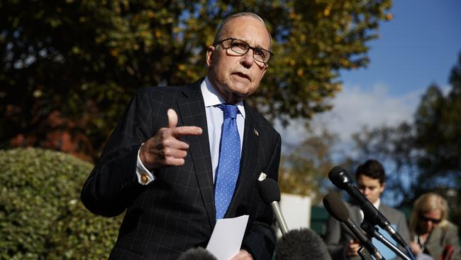 White House chief economic adviser Larry Kudlow spoke of 'enormous progress' in talks with China. Picture: AP