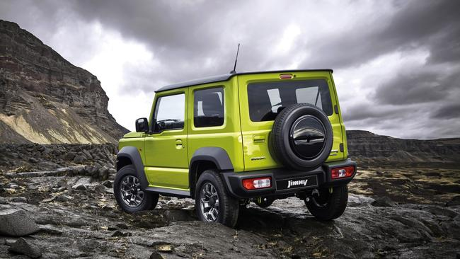The Jimny's low weight make it perfect for going off-road.