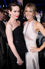 Sarah Paulson and Felicity Huffman pose during The 23rd Annual Screen Actors Guild Awards at The Shrine Auditorium on January 29, 2017 in Los Angeles, California. Picture: Getty