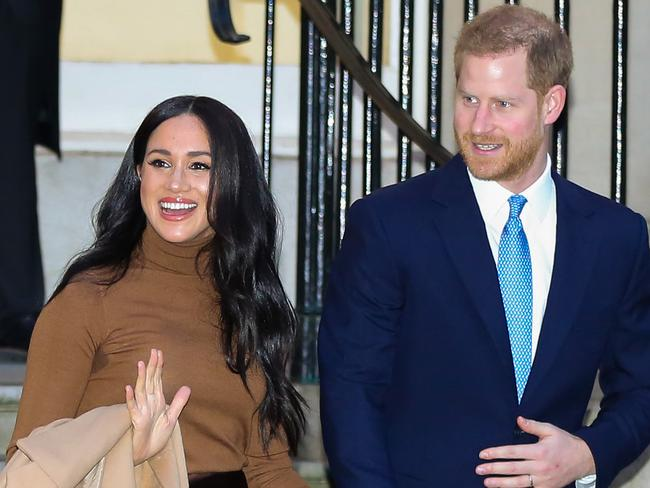 Prince Harry, Duke of Sussex and Meghan, Duchess of Sussex leave Canada House in London. Picture: Matrix