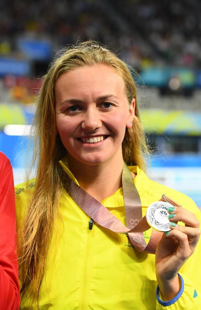 Ariarne Titmus won silver in the 200m freestyle on day one.