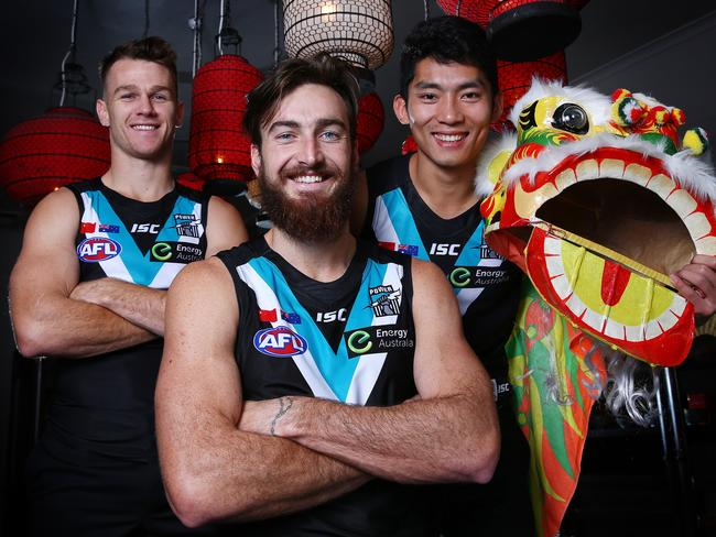 Port Adelaide will play a game in China in 2017.Picture Sarah Reed