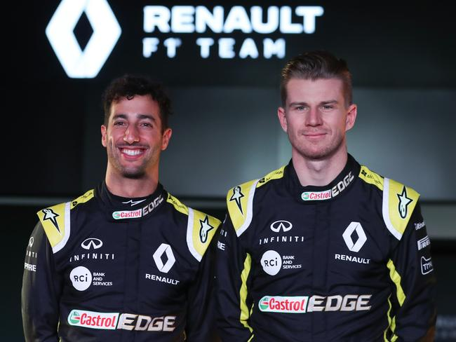 Ricciardo's partnership with Hulkenberg only lasted one season.
