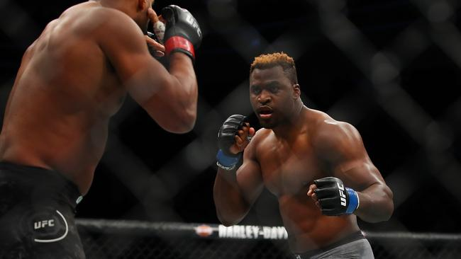 Francis Ngannou of France during UFC 218.