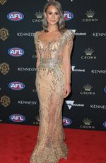 Talia Demarco, partner of Brisbane Dayne Zorko on the red carpet at the 2019 Brownlow Medal ceremony. Picture: Mark Stewart