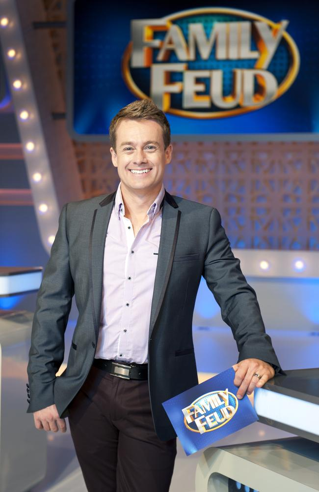 Versatile ... Grant Denyer on the set of Family Feud. Picture: Channel Ten