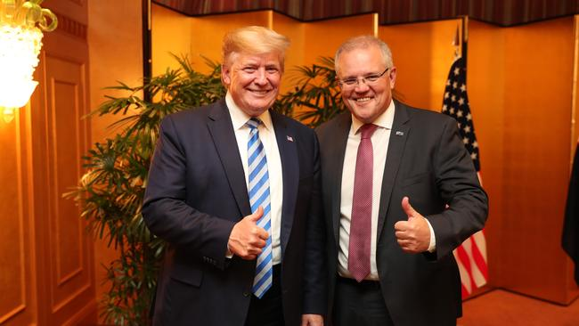Donald Trump and Scott Morrison met for a working dinner on the eve of the G20 summit last night.