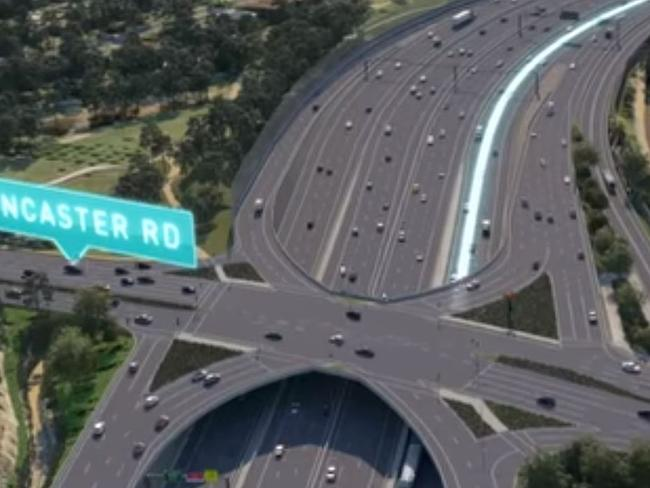 North East Link graphics reveal 20 lanes of traffic.