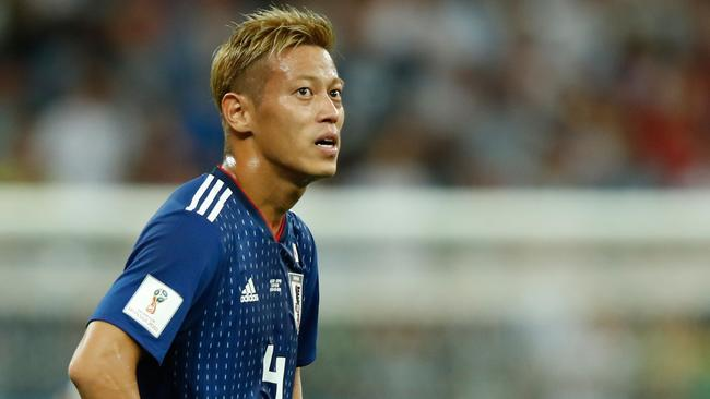 Keisuke Honda will coach Cambodia's national team this season. Picture: AFP