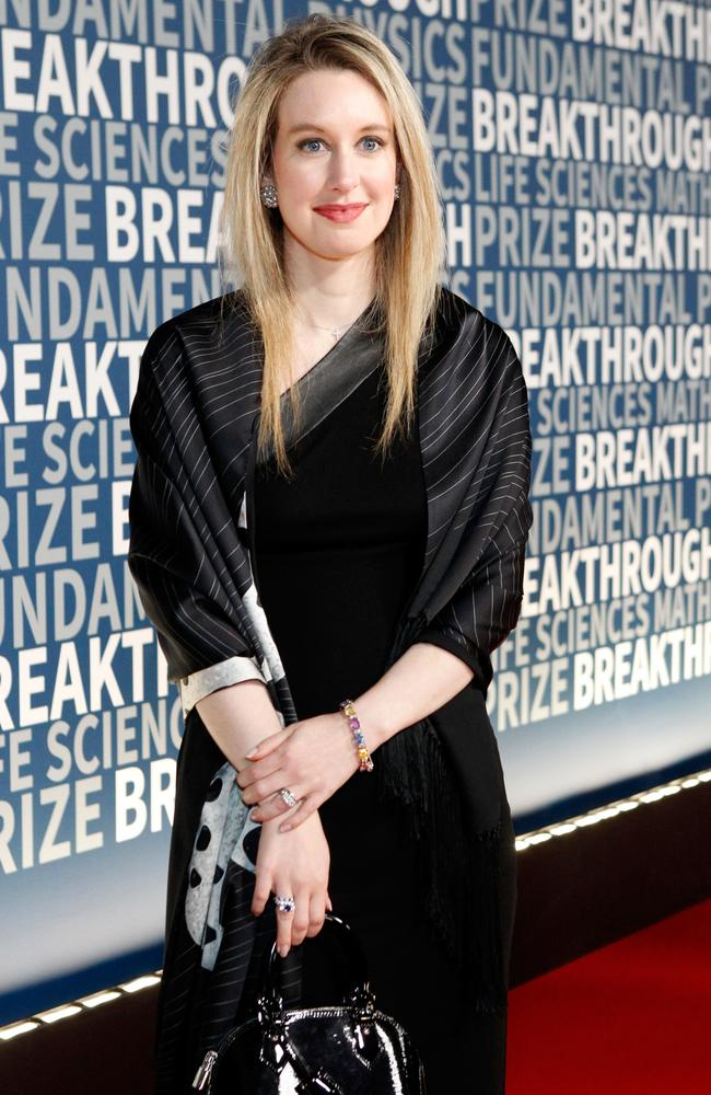 Disgraced former Theranos CEO Elizabeth Holmes at the 2016 Breakthrough Prize Ceremony in 2015 in California. Picture: Kimberly White