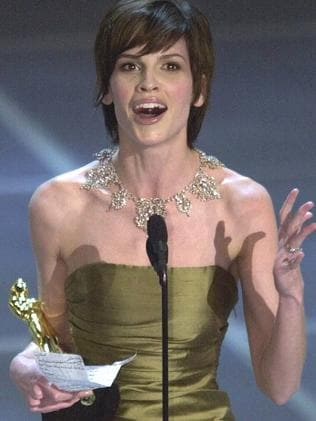Hilary Swank won the Best Actress Oscar for playing Brandon Teena. Picture: AP