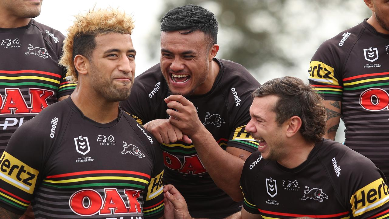 Penrith's Viliame Kikau and Brent Naden (right) are back in the team.