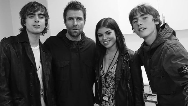 Left to right: Lennon Gallagher, Liam Gallagher, Molly Moorish and Gene Gallagher. Picture: Instagram