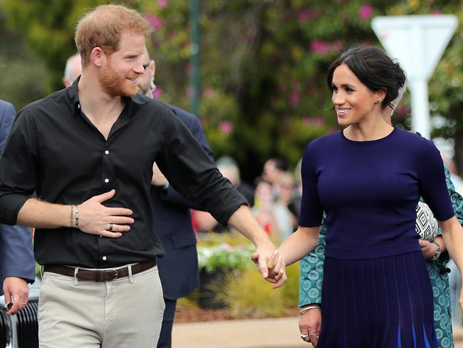 Prince Harry and Meghan Markle will become parents later this year and the Duchess is encouraging him to be the best dad he can be by embracing a healthier lifestyle. Picture: Michael Bradley / AFP