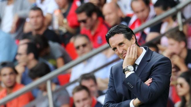 Paris Saint-Germain's Spanish head coach Unai Emery.