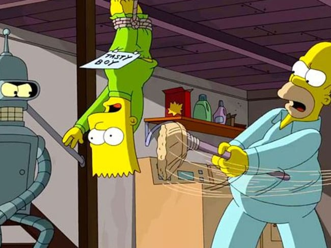 Whipping boy ... Bender and Homer share a common interest. Picture: Supplieds