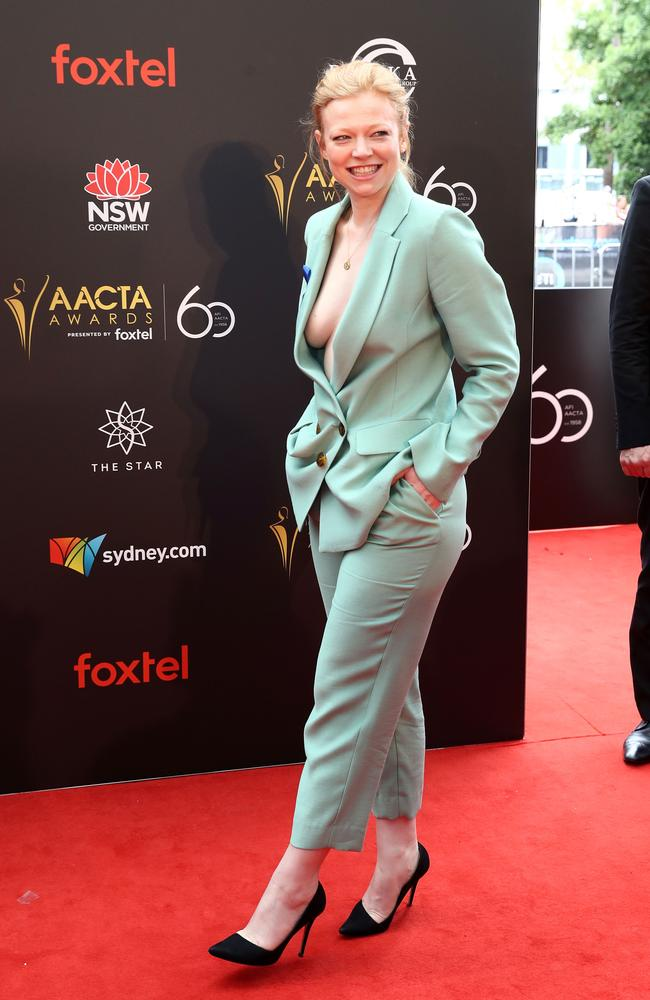 The suit featured a plunging neckline. Picture: Mark Metcalfe