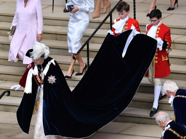 The Order of the Garter is the oldest and most senior Order of Chivalry in Britain, established by King Edward III nearly 700 years ago. Picture: AFP