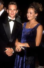 Luke Perry and Minnie Sharp at the 1992 Carousel of Hope Ball. Before splitting, the couple went on to have two children Jack and Sophie. Picture: Ron Galella/WireImage